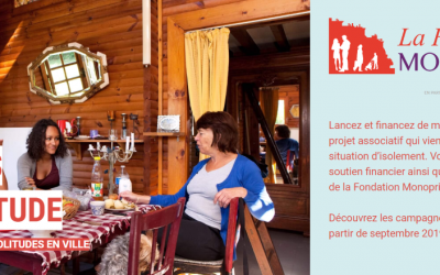L'association sélectionnée dans le cadre de l'appel à projets Femmes et solitude de la Fondation Monoprix en partenariat avec Ulule !