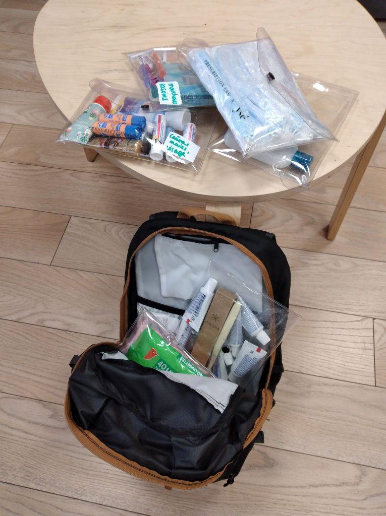 Le sac à dos de maraudeuse en préparation